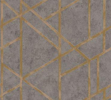 Livingwalls Mustertapete Metropolitan Stories Francesca - Milano in Grau, Metallic