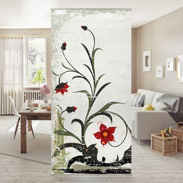 Raumteiler - Pale Flower 250x120cm