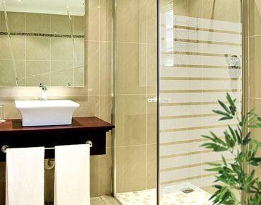 Fensterfolie - Fenstertattoo No.DS119 Streifen Schmal - Milchglasfolie