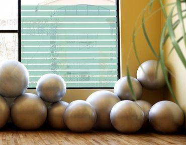 Fensterfolie - Fenstertattoo No.DS121 Streifen Rechteck I - Milchglasfolie