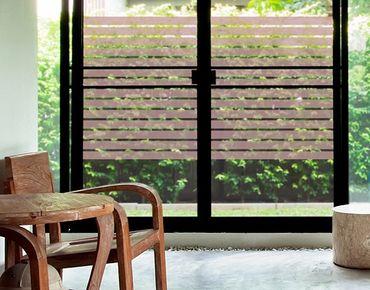 Fensterfolie - Fenstertattoo No.DS122 Streifen Rechteck II - Milchglasfolie