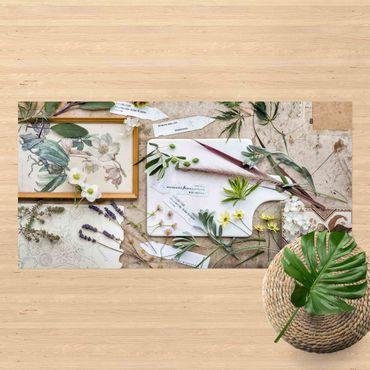 Vinyl-Teppich - Blumen und Gartenkräuter Vintage - Querformat 2:1