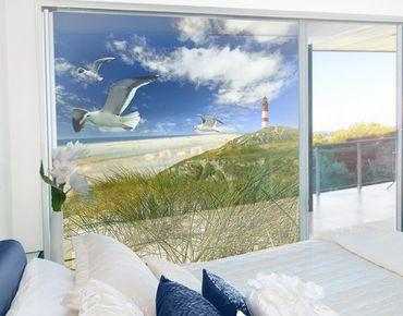 Fensterfolie - XXL Fensterbild Dune Breeze - Fenster Sichtschutz