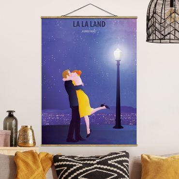 Stoffbild mit Posterleisten - Filmposter La La Land II - Hochformat 3:4