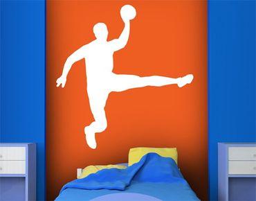Wandtattoo No.UL911 Handball Sprungwurf