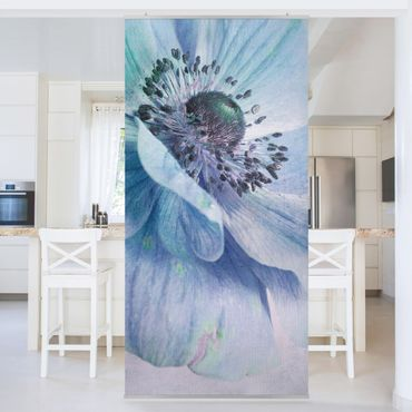 Raumteiler - Blüte In Türkis 250x120cm