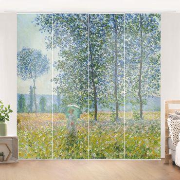 Schiebegardinen Set - Claude Monet - Felder im Frühling - 4 Flächenvorhänge