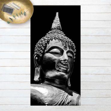 Vinyl-Teppich - Buddha Statue Gesicht - Hochformat 1:2