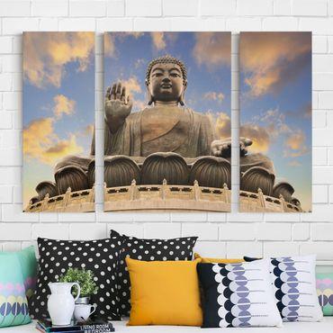 Leinwandbild 3-teilig - Großer Buddha - Triptychon
