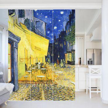 Schiebegardinen Set - Vincent van Gogh - Café-Terrasse am Abend in Arles - Flächenvorhänge
