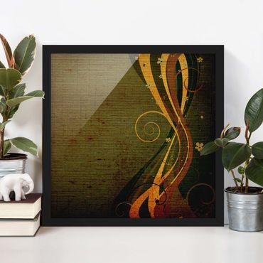 Bild mit Rahmen - Asian Flower - Quadrat 1:1