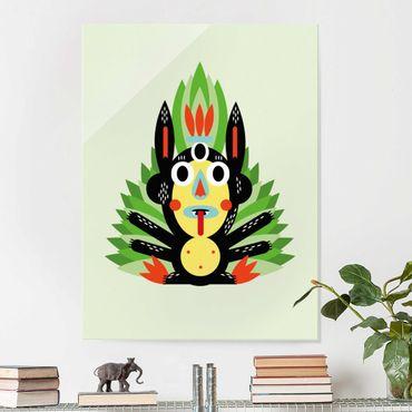 Glasbild - Collage Ethno Monster - Dschungel - Hochformat 4:3