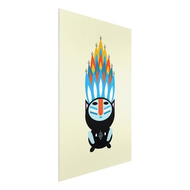 Forex Fine Art Print - Collage Ethno Monster - Feuer - Hochformat 3:2