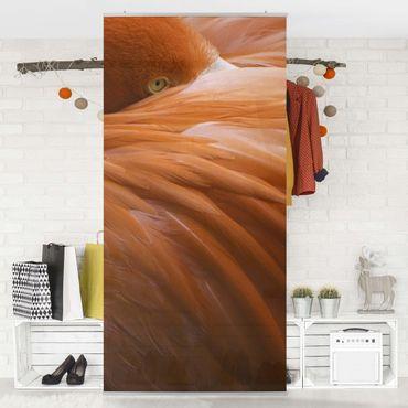 Raumteiler - Flamingofedern 250x120cm
