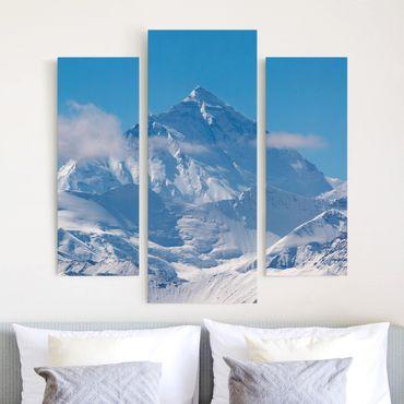 Leinwandbild 3-teilig - Mount Everest - Galerie Triptychon