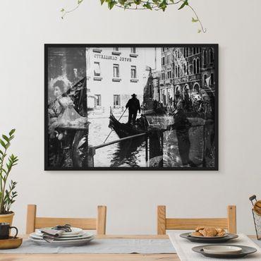 Bild mit Rahmen - Venice Reflections - Querformat 3:4
