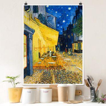 Poster - Vincent van Gogh - Café-Terrasse in Arles - Hochformat 3:4