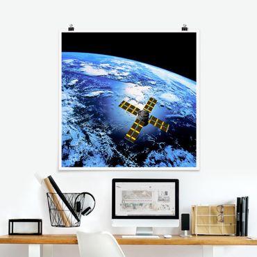 Poster - Space Runner - Quadrat 1:1