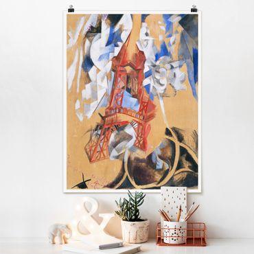 Poster - Robert Delaunay - Der Eiffelturm - Hochformat 3:4