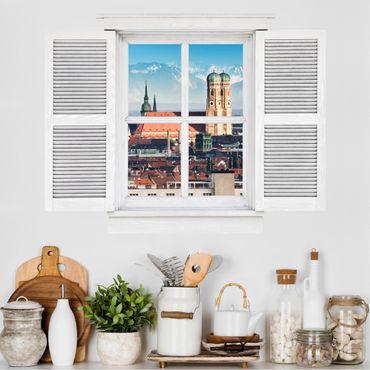3D Wandtattoo - Flügelfenster München