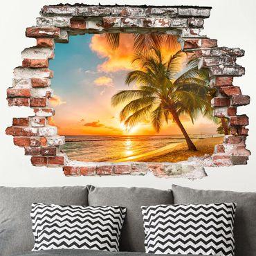 3D Wandtattoo - Sonnenaufgang am Strand
