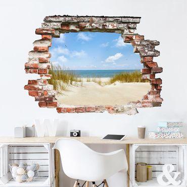 3D-Wandtattoo Strand an der Nordsee