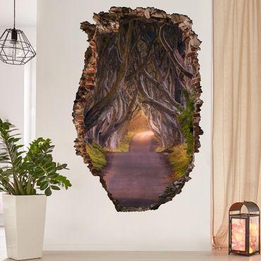 3D Wandtattoo - Tunnel aus Bäumen - Hoch 3:2