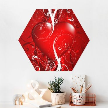 Hexagon Bild Forex - Floral Heart