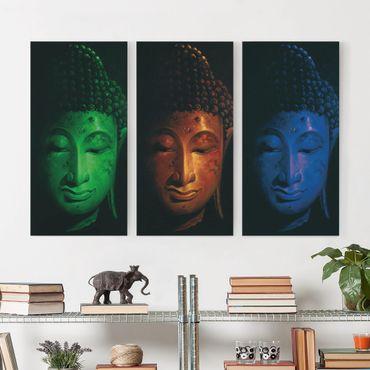 Leinwandbild 3-teilig - Triple Buddha - Hoch 1:2