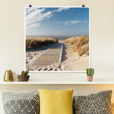 Poster - Ostsee Strand - Quadrat 1:1
