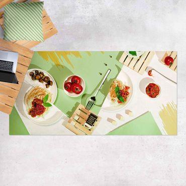 Vinyl-Teppich - Geometrie in der Küche - Querformat 2:1