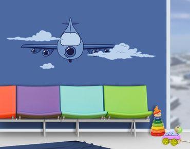 Wandtattoo Kinderzimmer No.JS62 Flugzeug