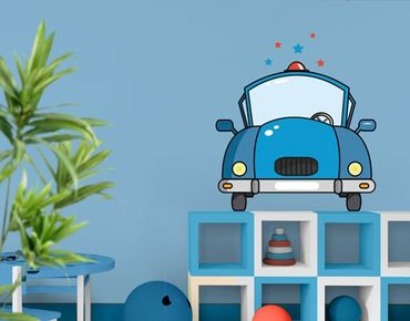 Wandtattoo Kinderzimmer No.JS60 Police Car