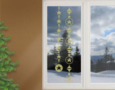 Fensterfolie - Fenstertattoo No.1231 Sternenketten - Milchglasfolie