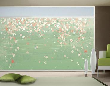 Fensterfolie - XXL Fensterbild No.EK236 Spring Background - Fenster Sichtschutz