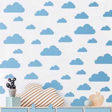 Wandtattoo einfarbig - 40 Wolken Set