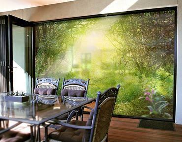 Fensterfolie - XXL Fensterbild Traumzauberwald - Fenster Sichtschutz