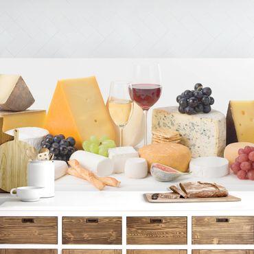 Küchenrückwand - Käse-Variationen