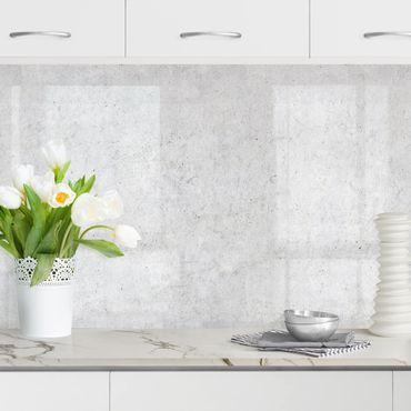 Küchenrückwand - Tapete Beton Ciré hell