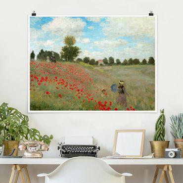 Poster - Claude Monet - Mohnfeld bei Argenteuil - Querformat 3:4