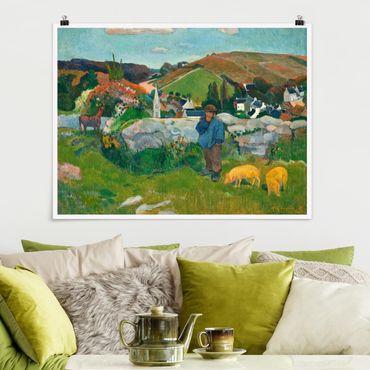 Poster - Paul Gauguin - Der Schweinehirt - Querformat 3:4