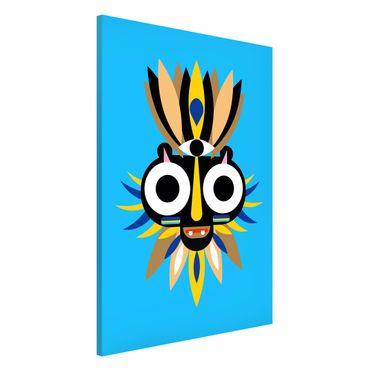 Magnettafel - Collage Ethno Maske - Große Augen - Memoboard Hochformat 3:2