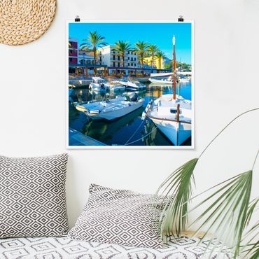 Poster - Puerto Andratx in Mallorca - Quadrat 1:1
