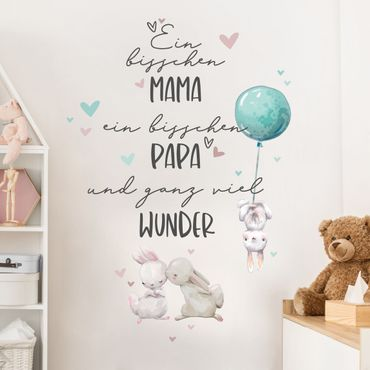 Wandtattoo - Ein bisschen Mama ein bisschen Papa