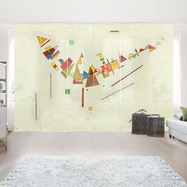 Schiebegardinen Set - Wassily Kandinsky - Winkelschwung - Flächenvorhänge