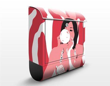 Wandbriefkasten - No.TA39 Bubblegum Playgirl - Briefkasten Rosa, Pink
