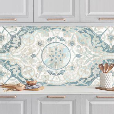 Küchenrückwand - Holzpaneel Persisch Vintage I