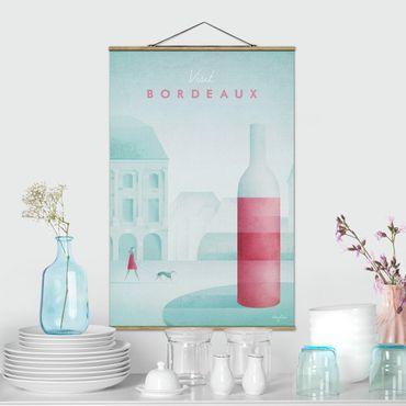 Stoffbild mit Posterleisten - Reiseposter - Bordeaux - Hochformat 3:2