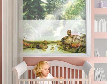 Fensterfolie - Sichtschutz Fenster Der Weg über den Bach - Fensterbilder
