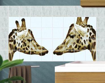 Fliesenbild - Giraffes In Love